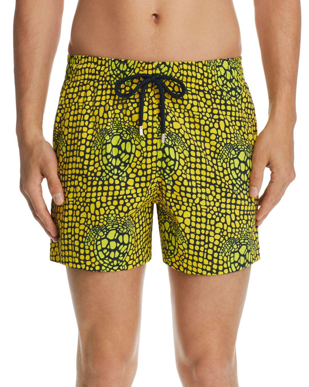 786a034e67 Vilebrequin Superflex Shell Turtle - Print Swim Shorts in Green for Men -  Lyst