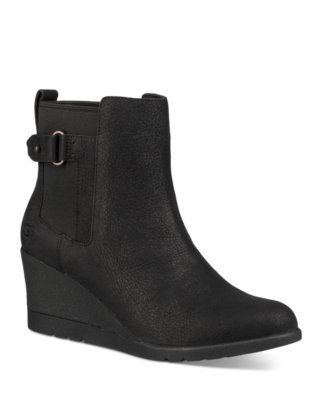 faacc935351 Lyst - UGG Indra Wedge Booties in Black