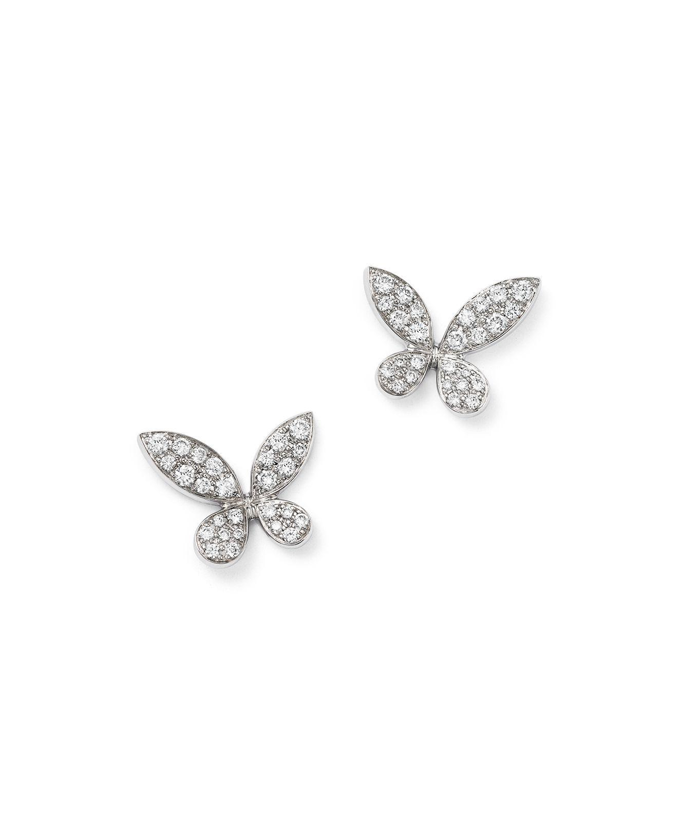 claire butterfly silver stud earrings sterling s