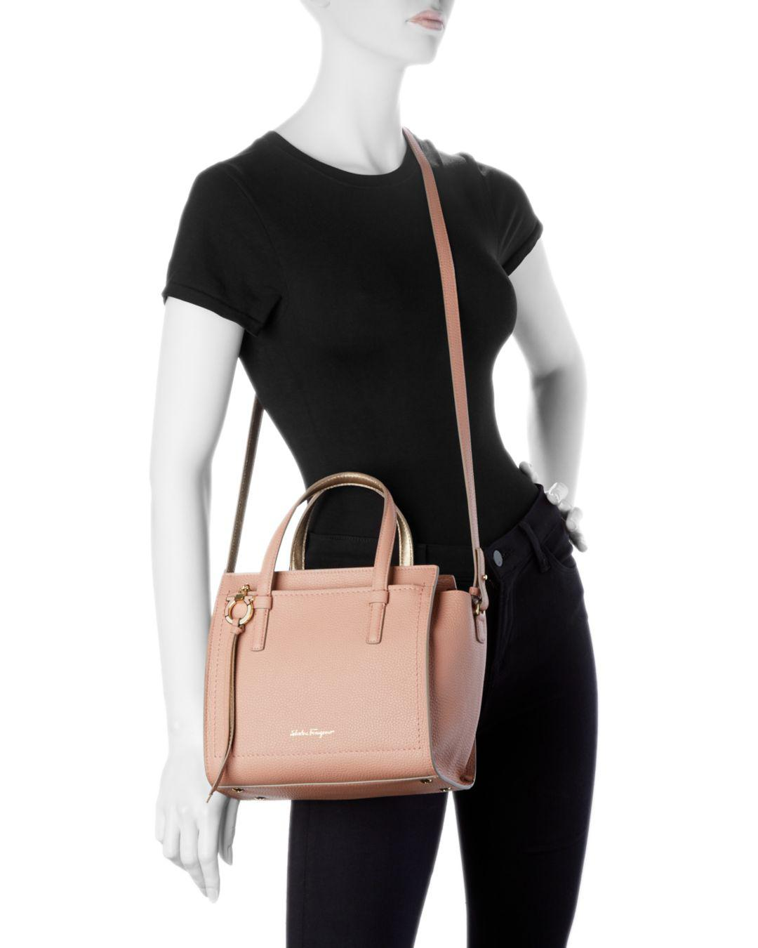 a1e8da39eac9 Lyst - Ferragamo Amy Small Leather Crossbody