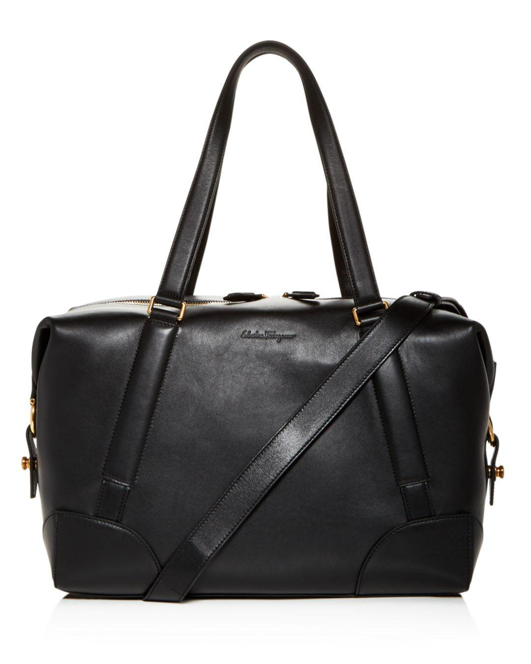 b79b277e3bf7 Lyst - Ferragamo Runway Leather Duffel Bag in Black for Men