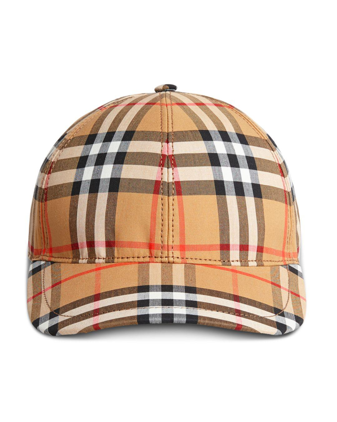 Lyst - Burberry Plaid Baseball Hat - Save 7% 5802781c5e3