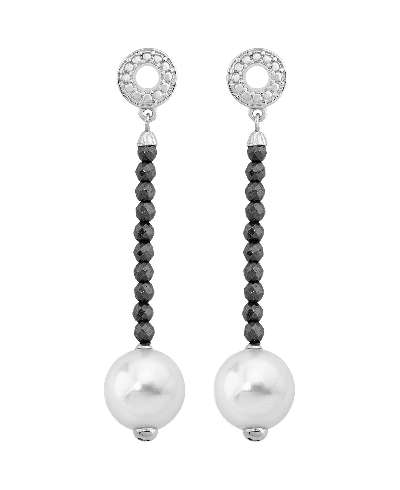 Majorica Simulated Pearl Chain-Drop Earrings ydN9CNK