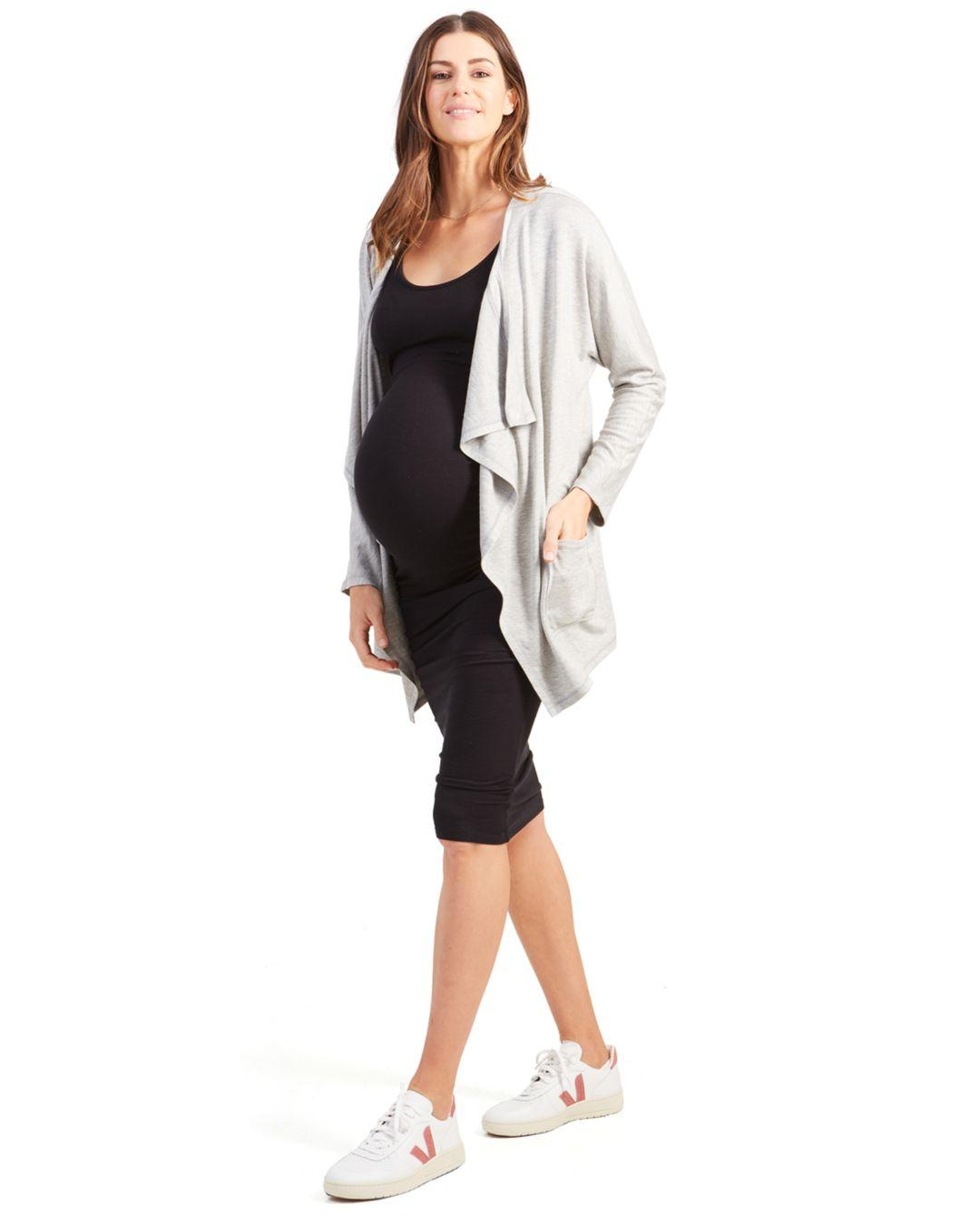 c761ae3a4f2 Lyst - Ingrid & Isabel Maternity Cozy Nursing Cardigan in Gray