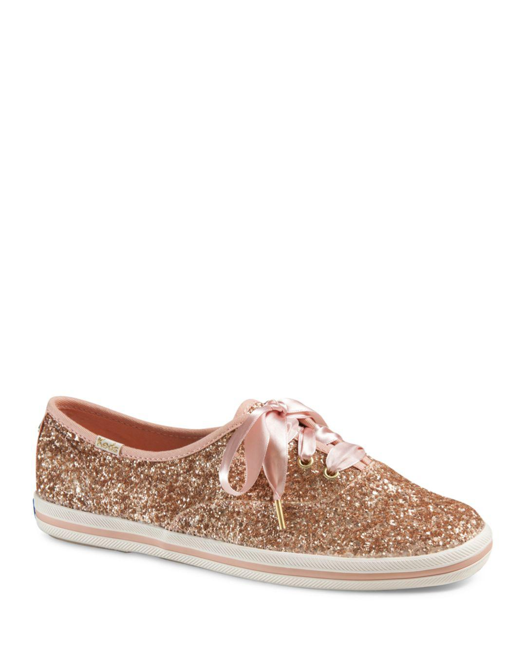 381f04bb11 Lyst - Keds X Kate Spade New York Women s Glitter Lace Up Sneakers