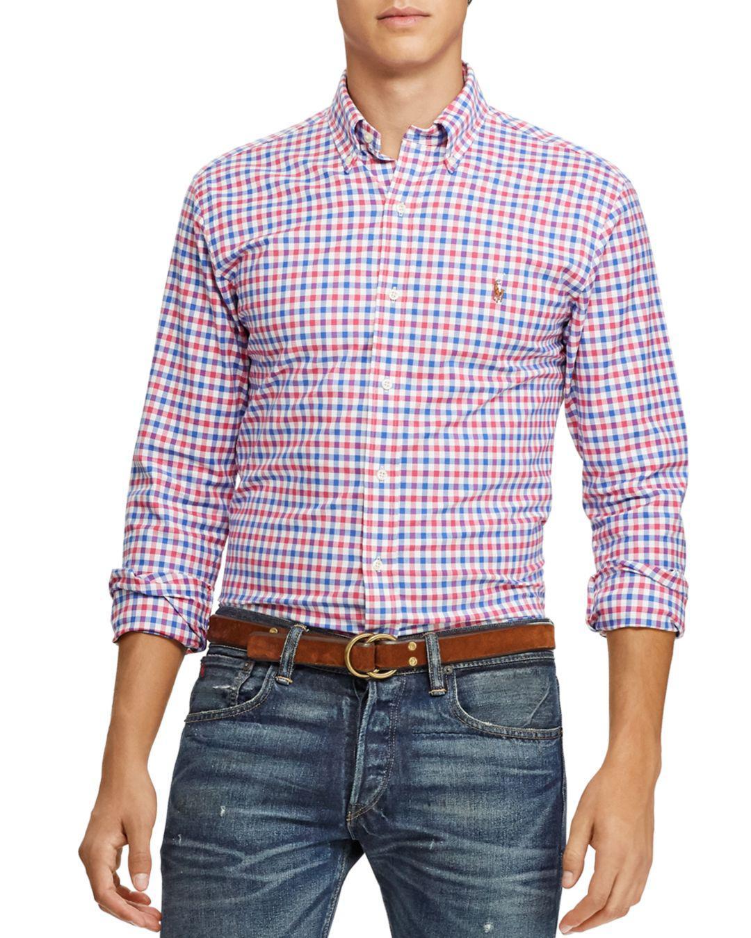 Lyst - Polo Ralph Lauren Check Slim Fit Button-down Shirt for Men ... 3dcf7f9a230