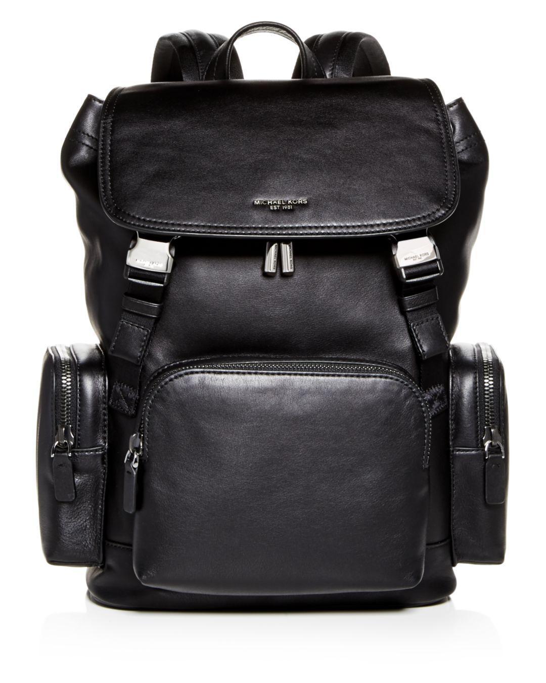 961ac2ec08c3 Michael Kors Henry Leather Backpack in Black for Men - Save 60% - Lyst