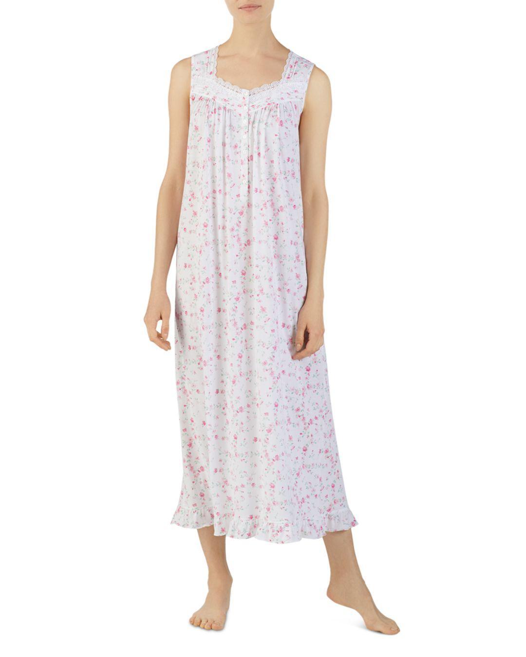 050b376a1f Eileen West. Women s Ballet Floral Print Sleeveless Nightgown