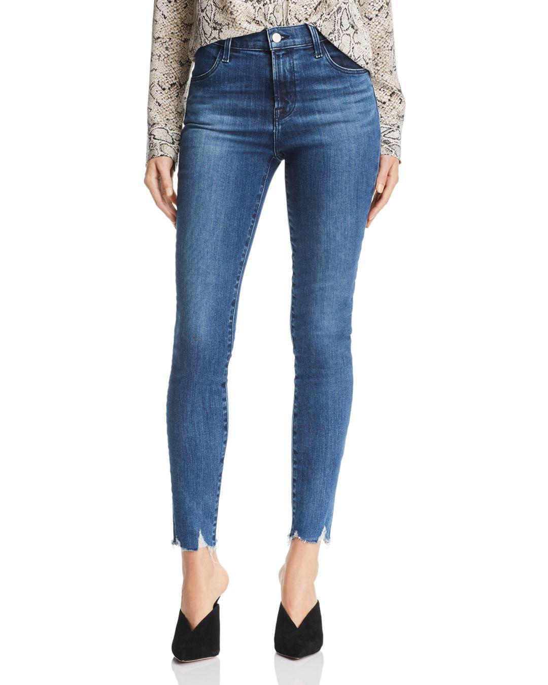 3eafe8334df7e Lyst - J Brand Maria High Rise Skinny Jeans In Rising Destruct in Blue