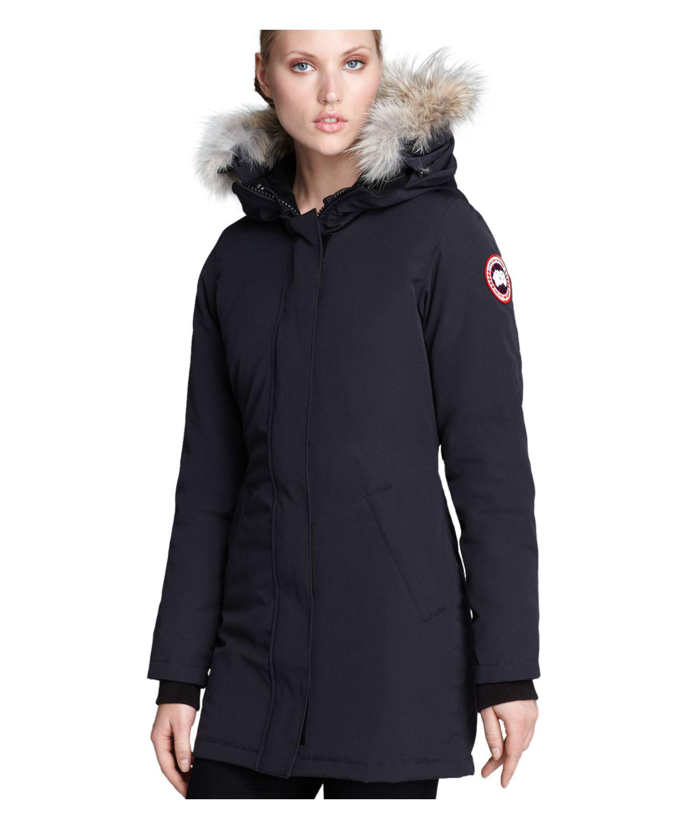 79549; canada goose victoria parka in blue lyst canada goose whistler bloomingdales