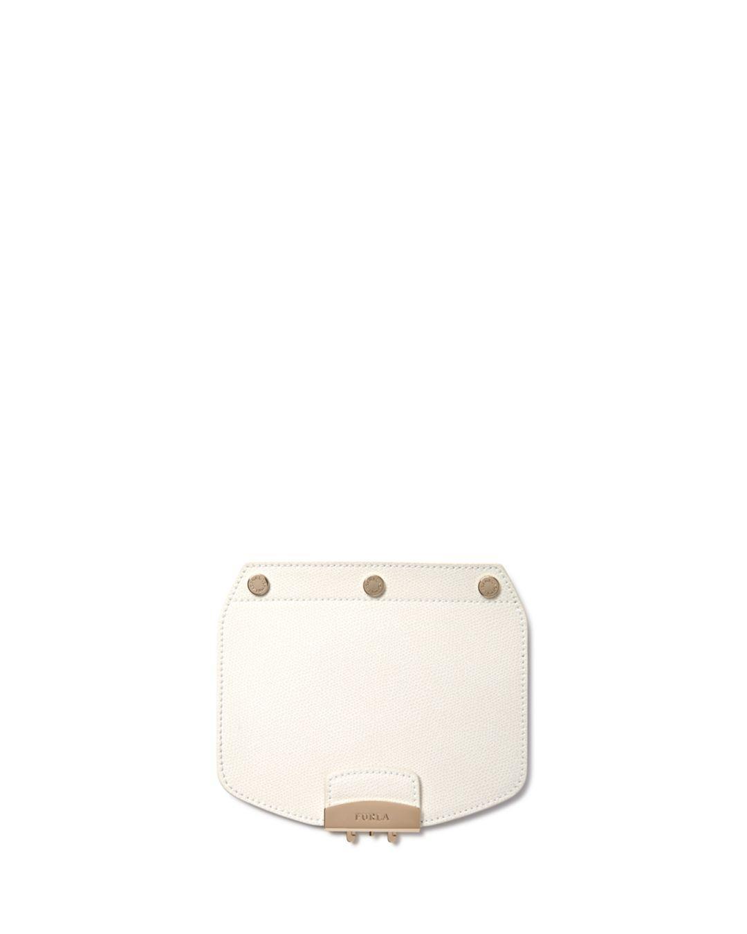 766eb6c9c7 Furla - White My Play Interchangeable Metropolis Mini Leather Flap - Lyst.  View fullscreen