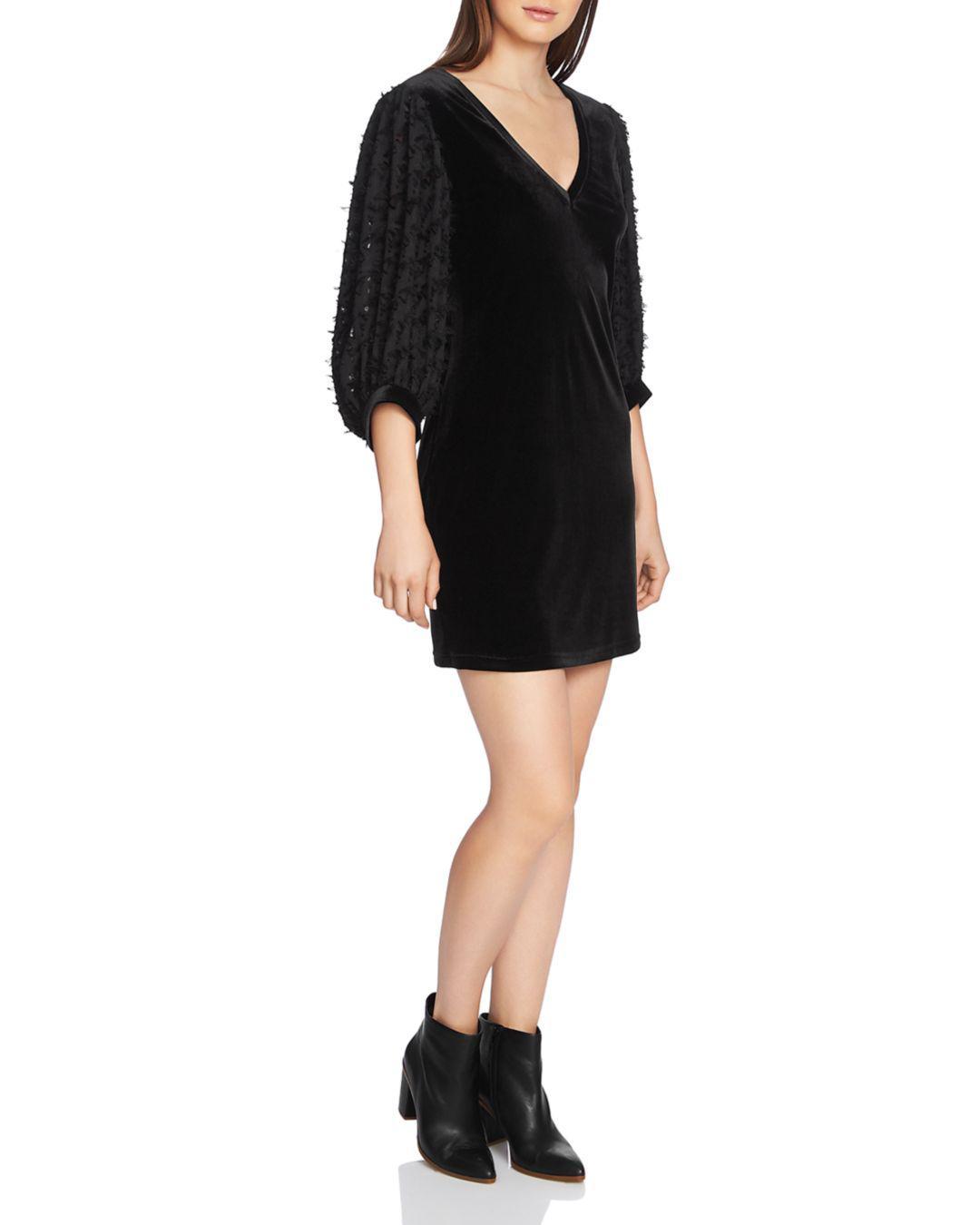 c1f330c27d Lyst - 1.STATE Fil Coupé Velvet Shift Dress in Black