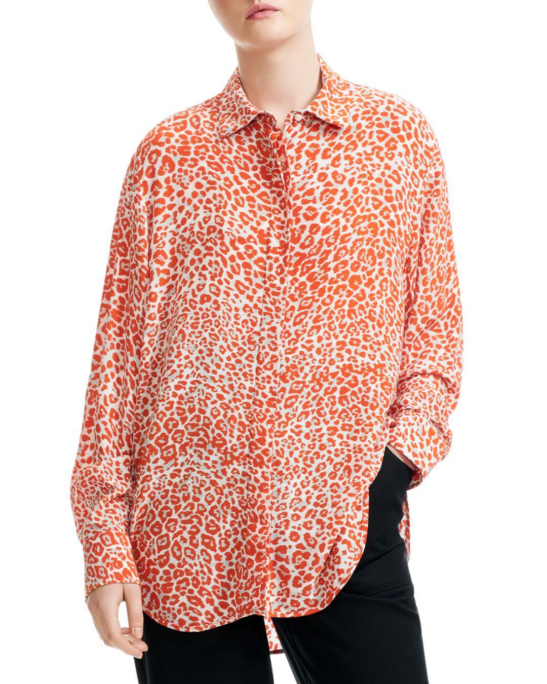 eec72abec5c1b Maje - Multicolor Capona Leopard-print Shirt - Lyst. View fullscreen