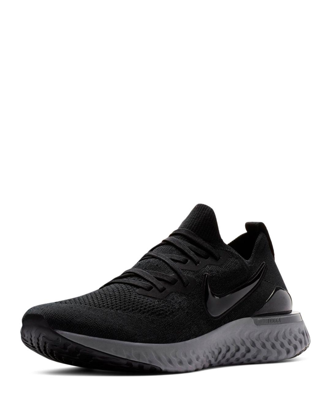ce5bc169bafc Lyst - Nike Epic React Flyknit 2 Black  Black-white-gunsmoke in ...