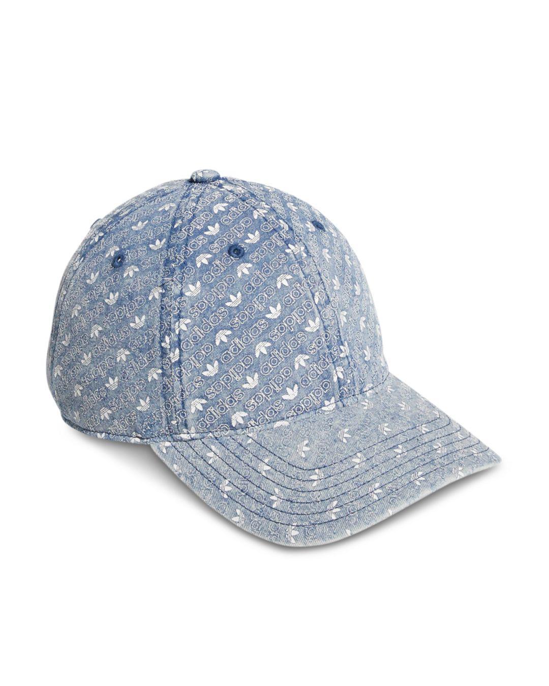 Lyst - adidas Originals Denim Monogram Snapback Hat in Blue for Men b35cdf943848
