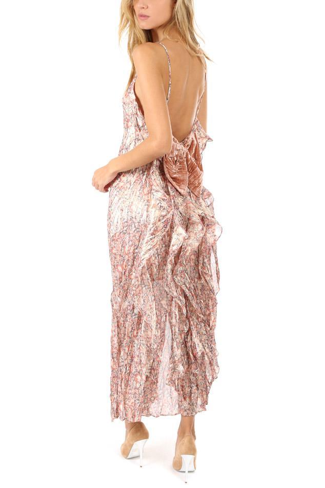 18a935b1a1a0 LoveShackFancy Kate Ruffle Slip Dress in Pink - Lyst