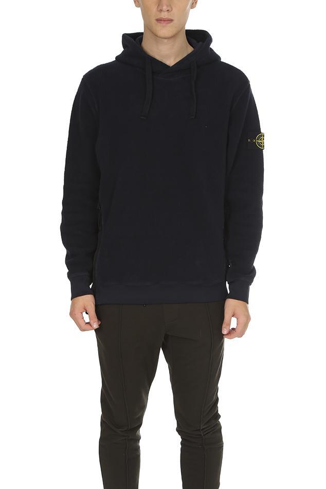 lyst stone island pullover sweatshirt in black for men. Black Bedroom Furniture Sets. Home Design Ideas