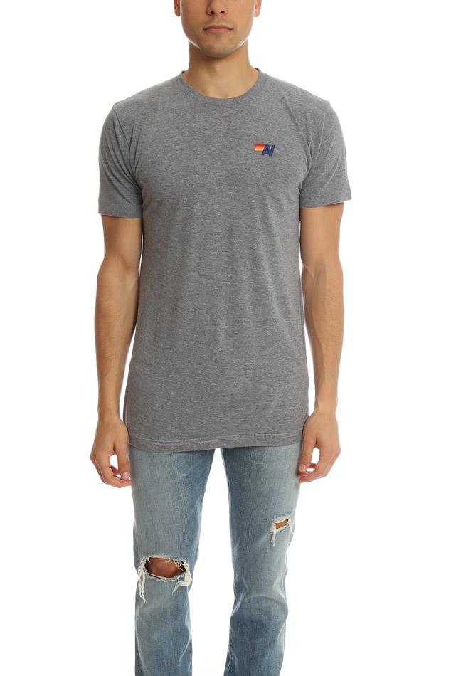 Aviator Nation Basic Crew T Shirt In Gray For Men Lyst
