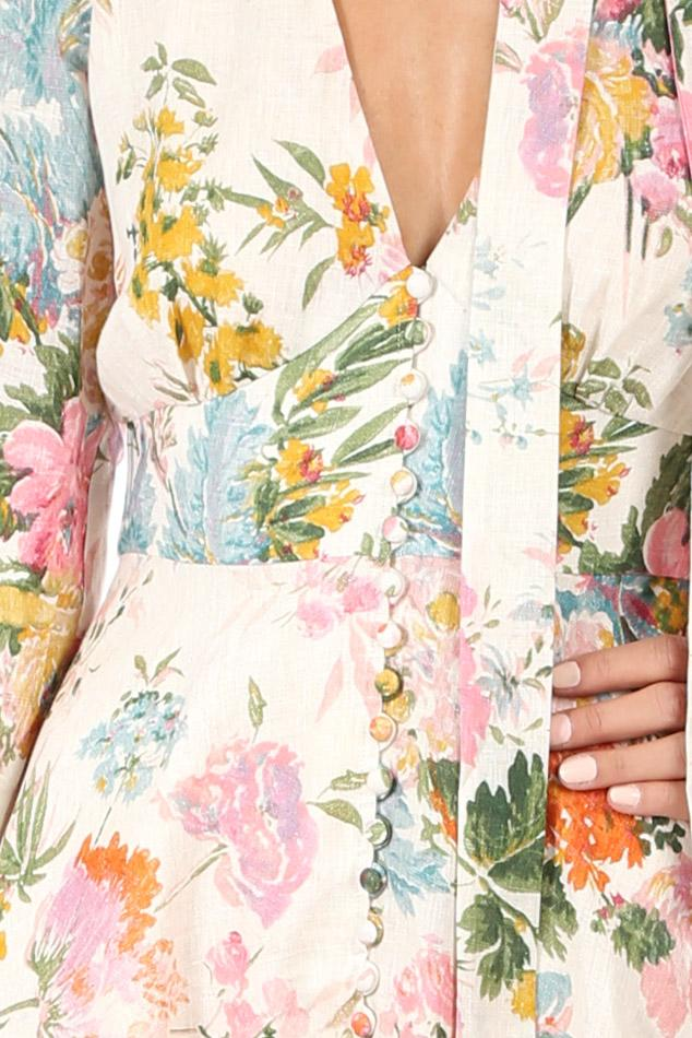 d65dd7e64d Zimmermann - Multicolor Heathers Plunge Long Dress - Lyst. View fullscreen