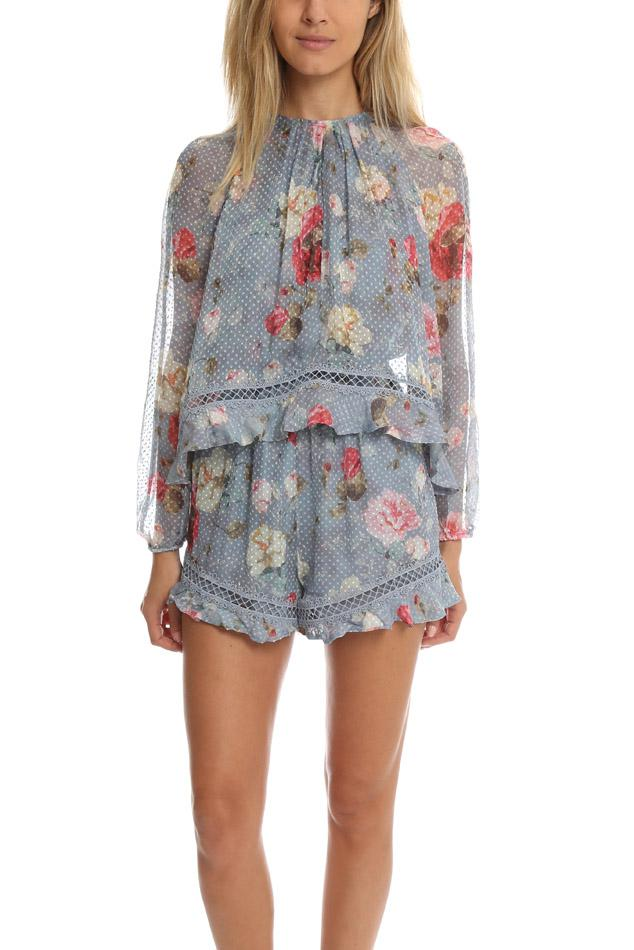 4171eb4e96 Lyst - Zimmermann Havoc Floating Layer Playsuit in Black