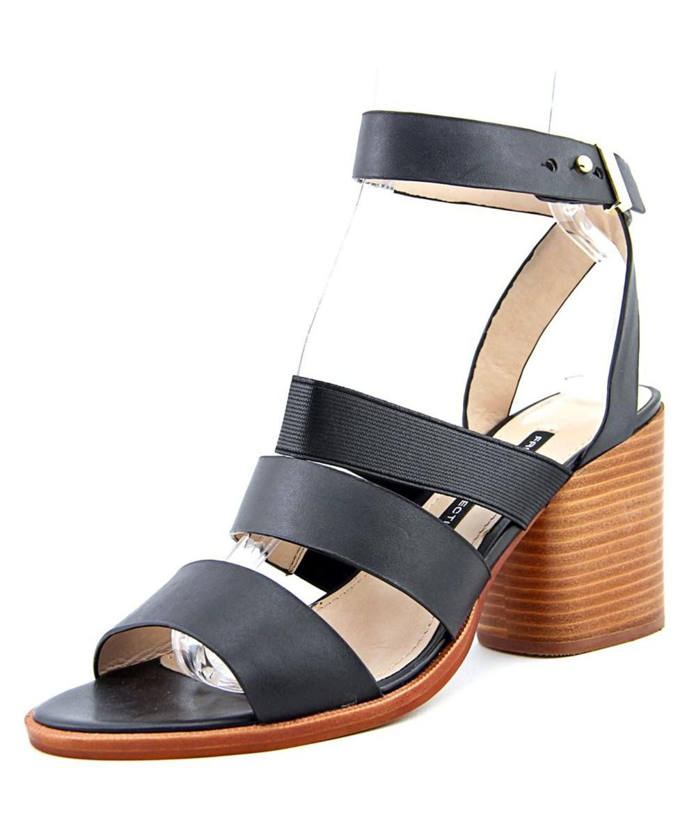 f2d6f938c53 Lyst - French Connection Ciara Open Toe Leather Gladiator Sandal in ...