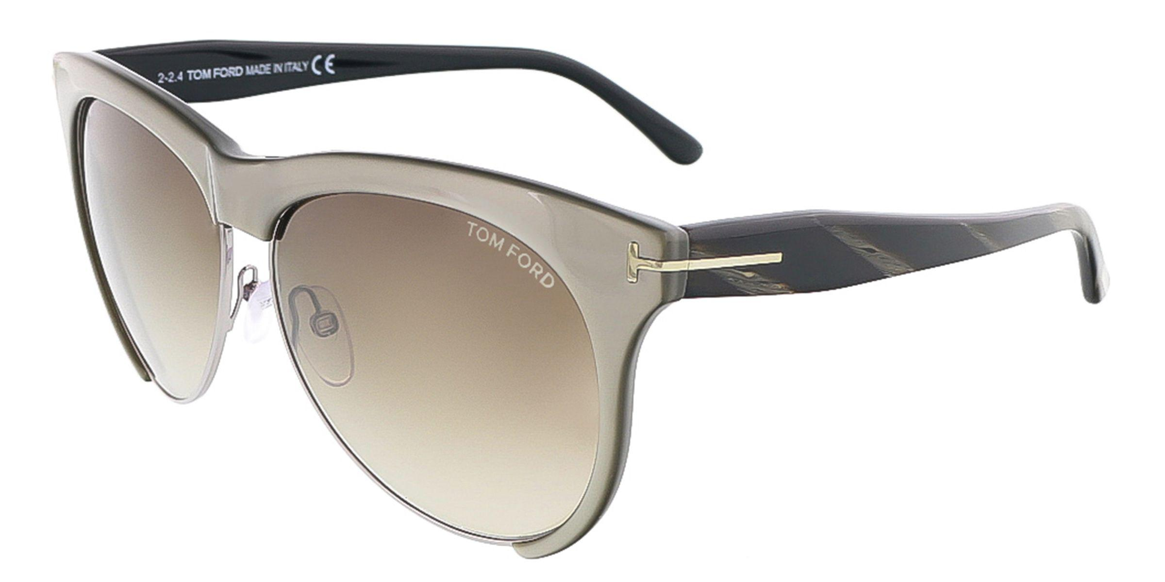 9172d22b2c7b Tom Ford - Gray Ft0365 s 38b Leona Grey Bronze Clubmaster Sunglasses - Lyst.  View fullscreen