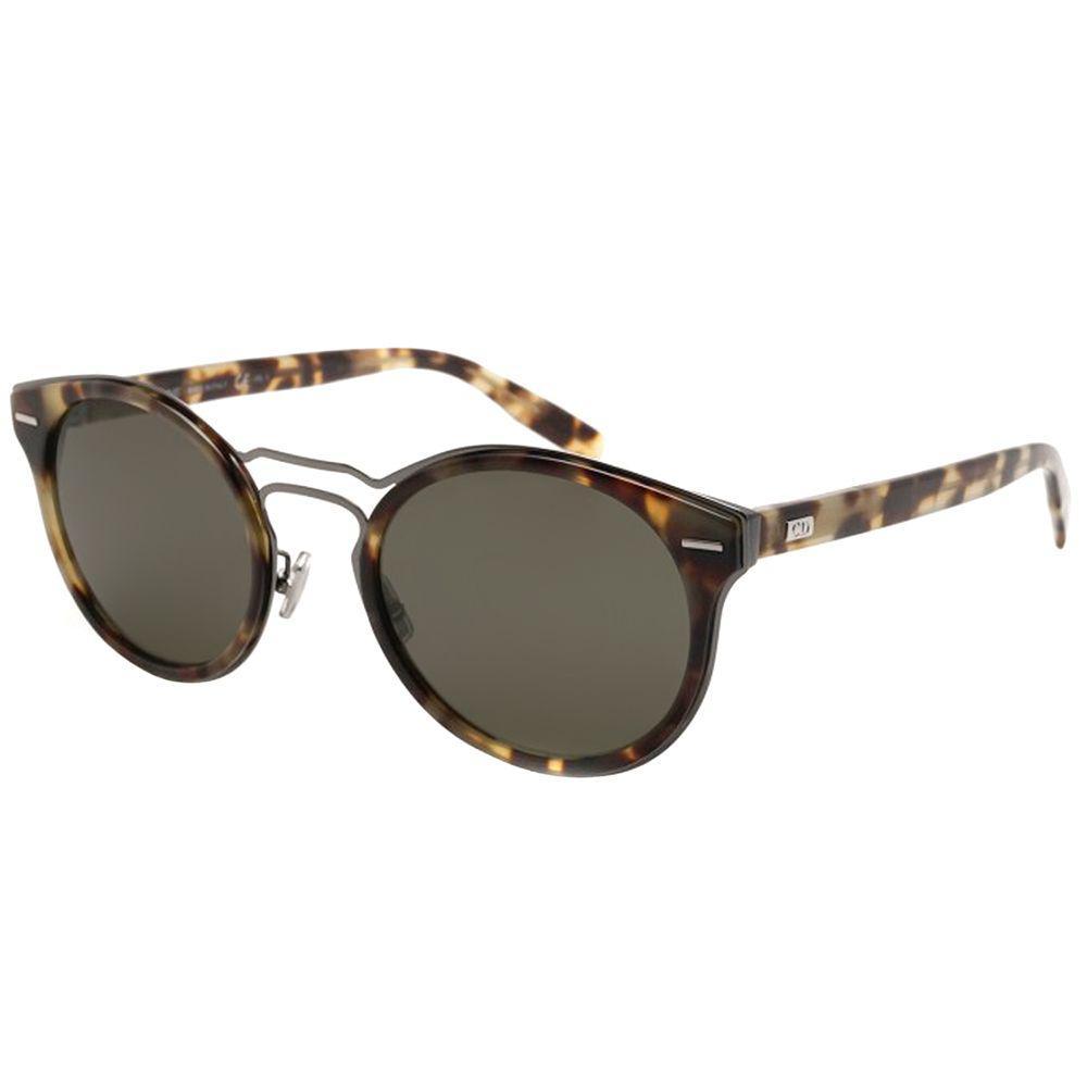 e7d83c877 Dior. Women's Cd 0209s 2ot Dark Ruthenium Light Havana Round Sunglasses
