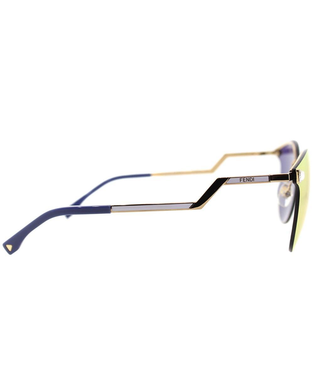 c0d573e18768c Fendi - Metallic Iridia Ff0040 Jfg Gold Cat-eye Sunglasses - Lyst. View  fullscreen