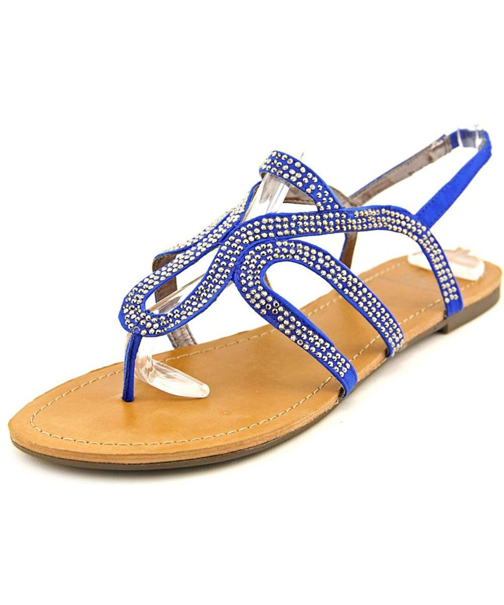 35cff439dbd Lyst - Material Girl Serena Open-toe Synthetic Slingback Sandal in Blue
