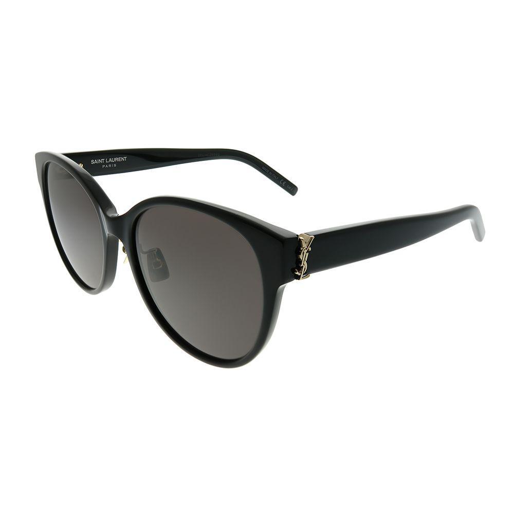 052d7595a75 Saint Laurent - Sl M39/k 001 Black Round Sunglasses - Lyst. View fullscreen