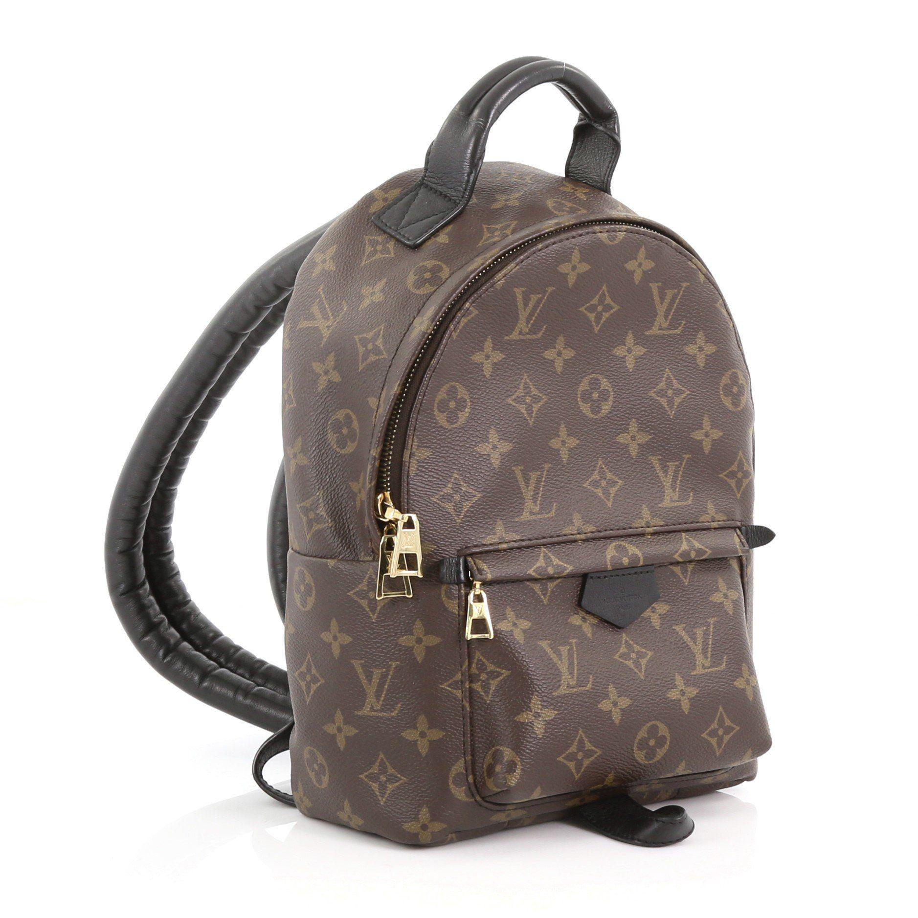 Lyst - Louis Vuitton Pre Owned Palm Springs Backpack Monogram Canvas Pm in  Brown c0cb2dab24