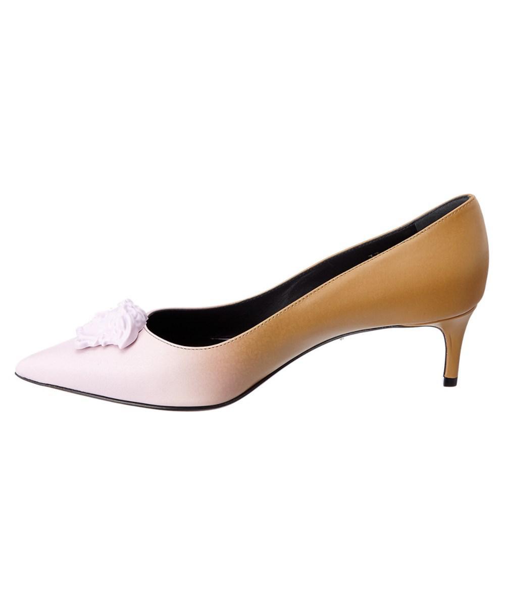 ed980e9b2f5 Lyst - Versace Palazzo Gradient Leather Kitten Heel Pump - Save 12%