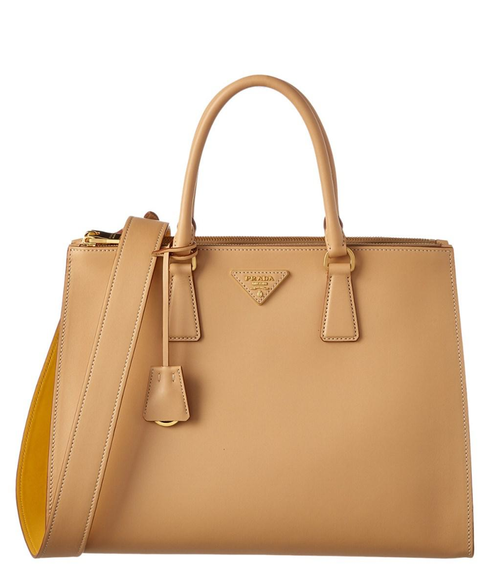 6b4d1e284a21 ... netherlands lyst prada galleria city calf leather zip tote b38ad 56b58