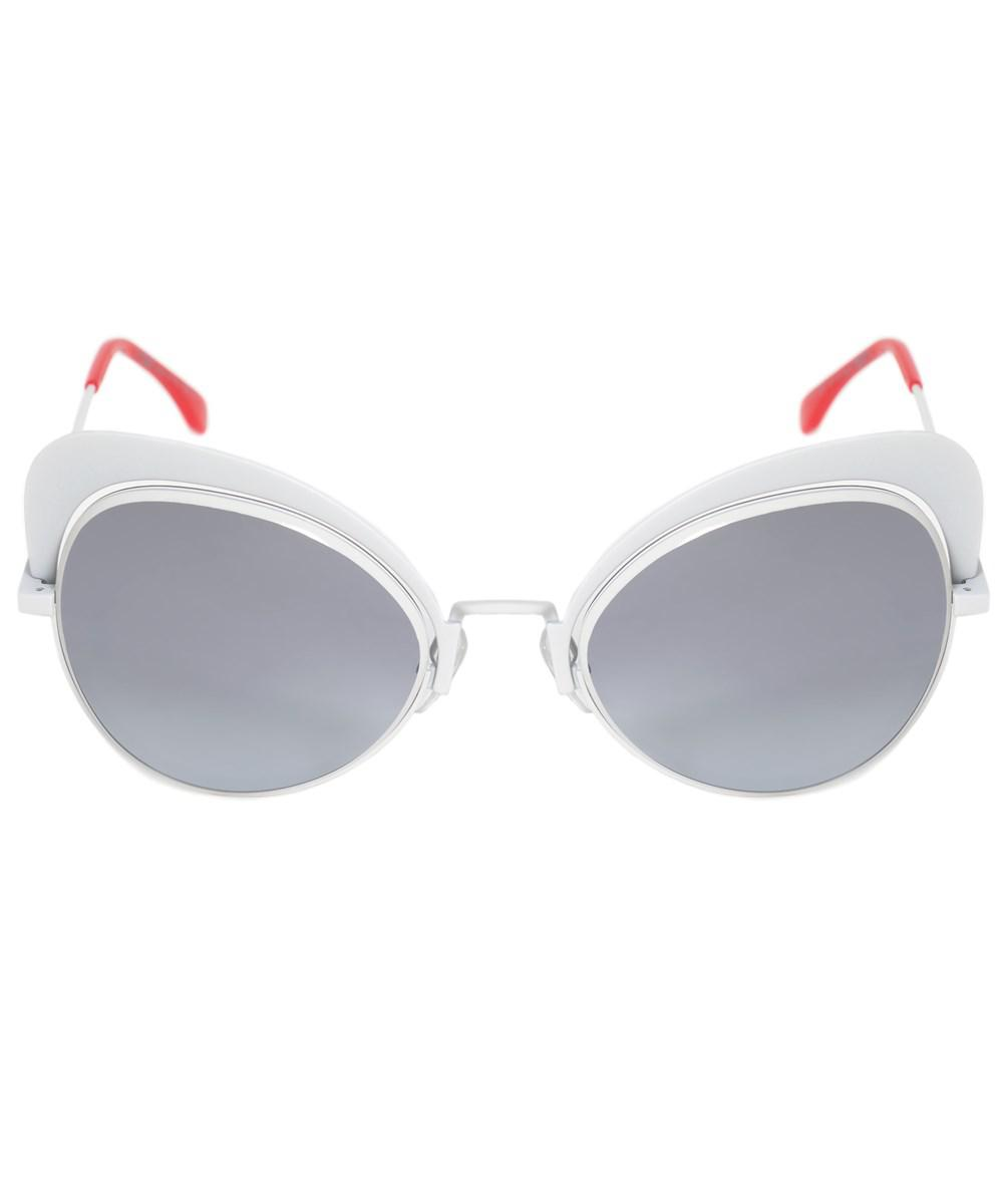 f50b330f4a Lyst - Fendi Eyeshine Butterfly Sunglasses Ff0247s Vk6 9o 54 in White