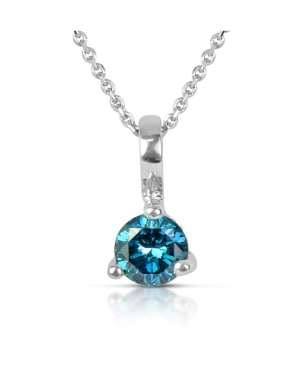 Lyst suzy levian 14k white gold 22ct tdw blue diamond solitaire suzy levian womens 14k white gold 22ct tdw blue diamond solitaire pendant necklace audiocablefo