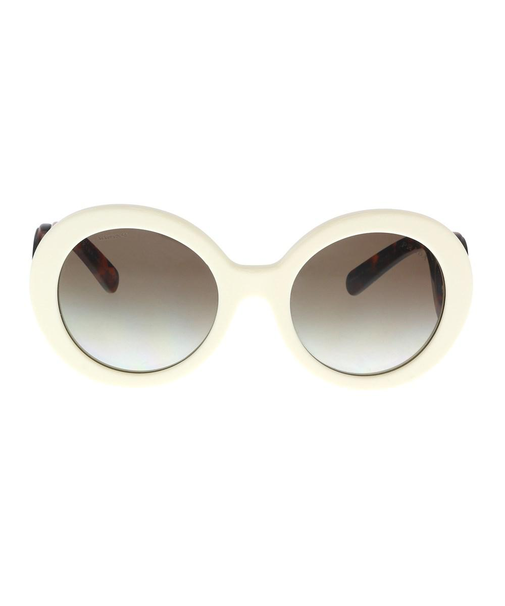cc6bca1f5b55 Lyst - Prada Pr 08tsf Vag0a7 Ivory Round Sunglasses in White