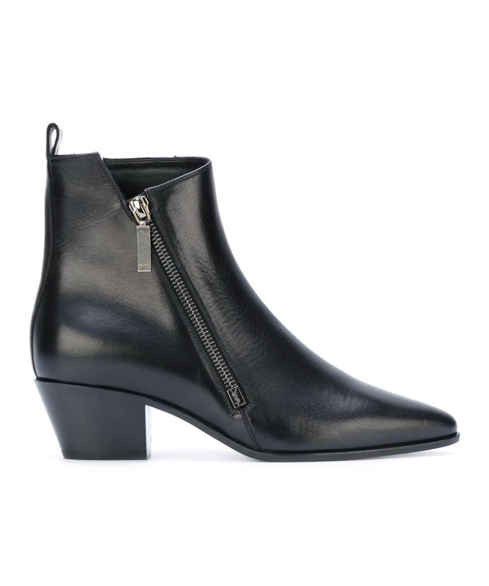 Saint Laurent Zip detail ankle boots