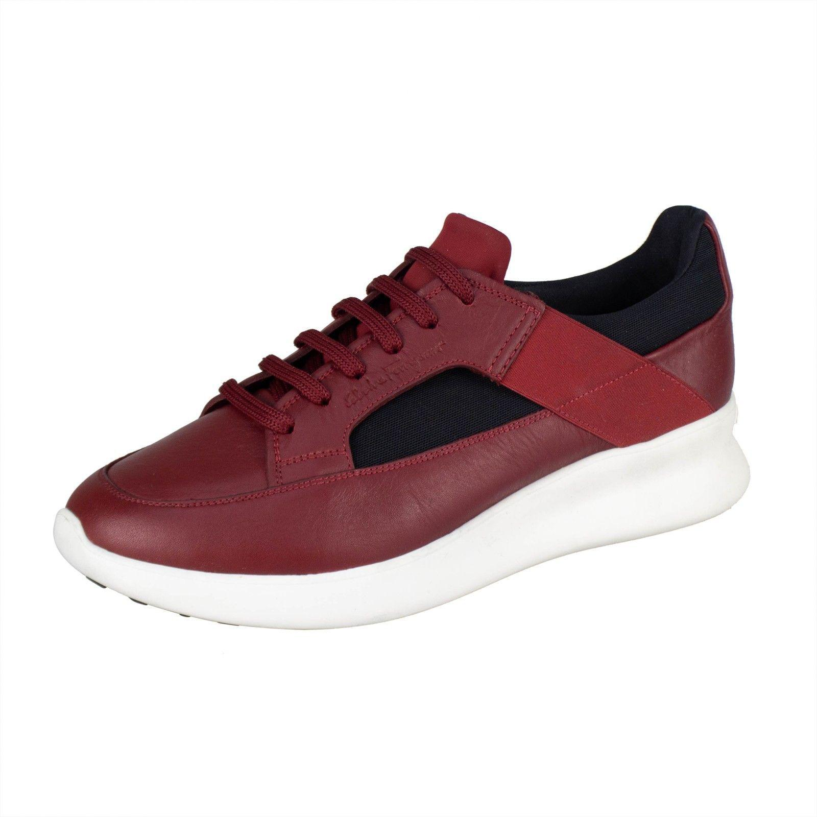 41693a4b277c2 Lyst - Ferragamo Red Calfskin Leather Sneakers Shoes in Red for Men