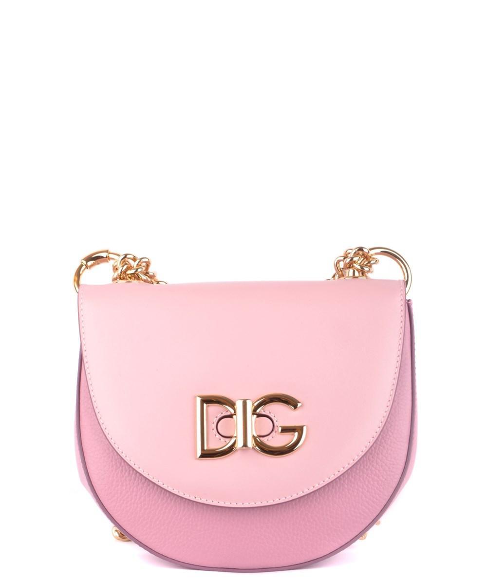 93238743447b Dolce   Gabbana. Dolce E Gabbana Women s Mcbi099395o Pink Leather Shoulder  Bag