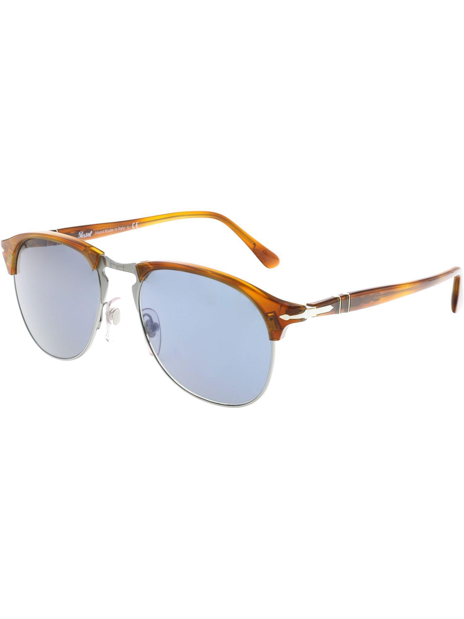 3e6f806fa4dd3 Lyst - Persol Men s Mirrored Po8649s-96 56-53 Brown Oval Sunglasses ...
