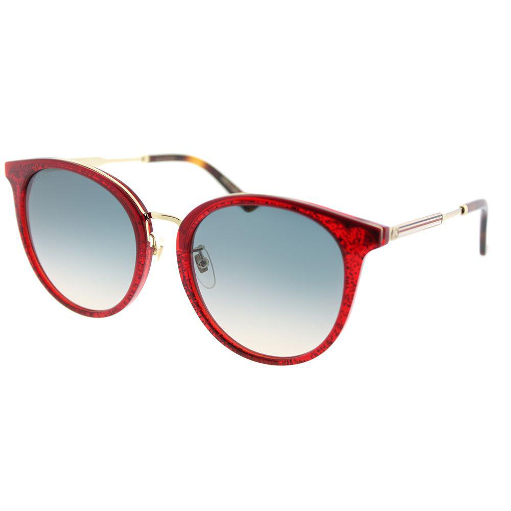 8c836431c1e0f Lyst - Gucci GG0204SK 005 Red Fashion Sunglasses