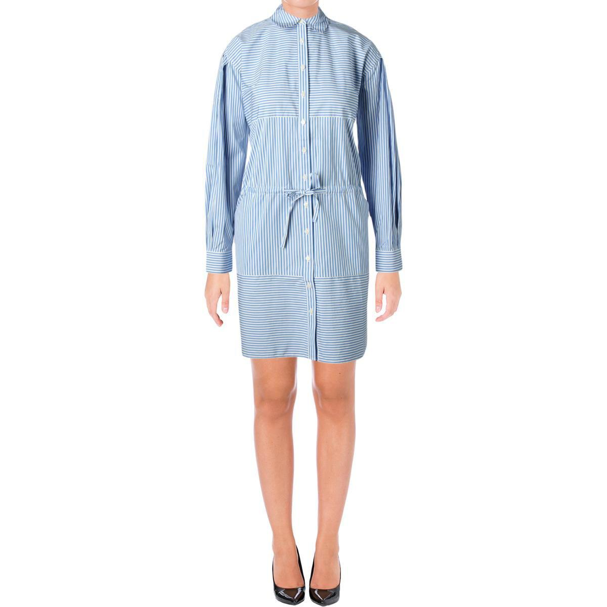 901b002be422 Juicy Couture. Blue Black Label Womens Striped Long Sleeves Shirtdress