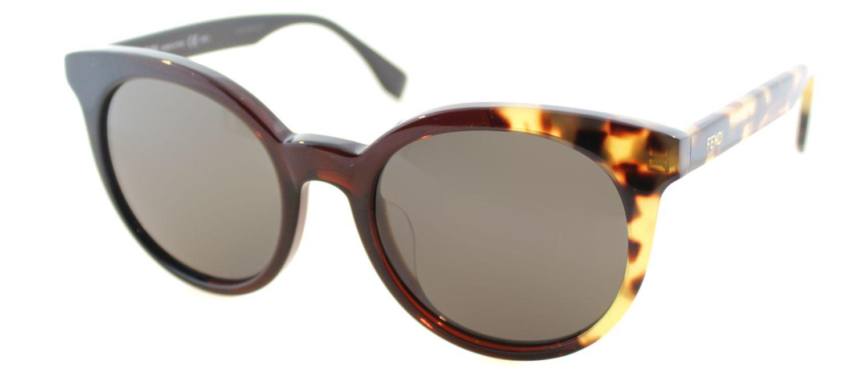 19ff6d9d101 Lyst - Fendi Ff0064 Mxu Black Cat-eye Sunglasses in Brown