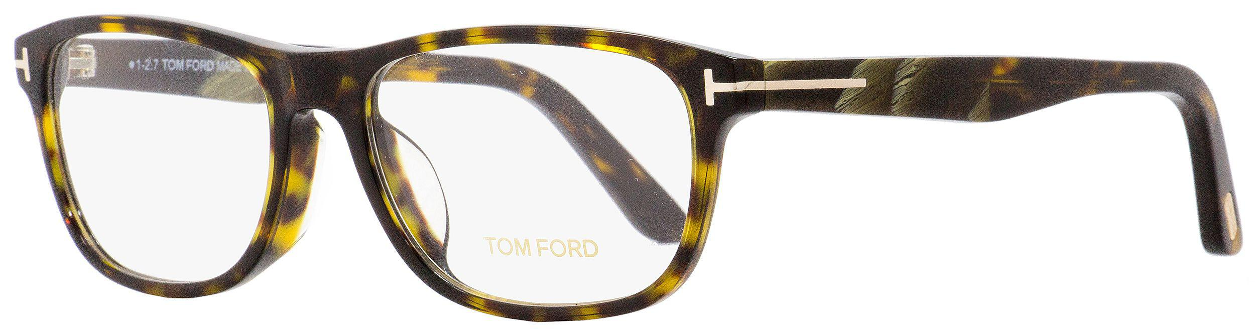 79dc7de6ef Tom Ford - Multicolor Rectangular Eyeglasses Tf5430f 052 Dark Havana horn  56mm Ft5430f for Men. View fullscreen