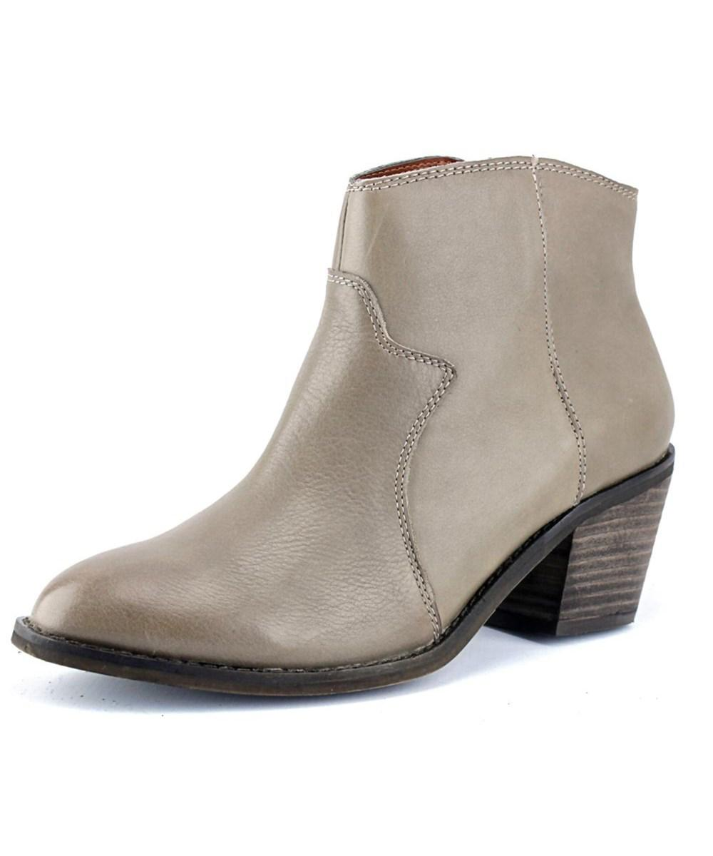 Lyst - Lucky Brand Marcos Round Toe Leather Bootie in Gray