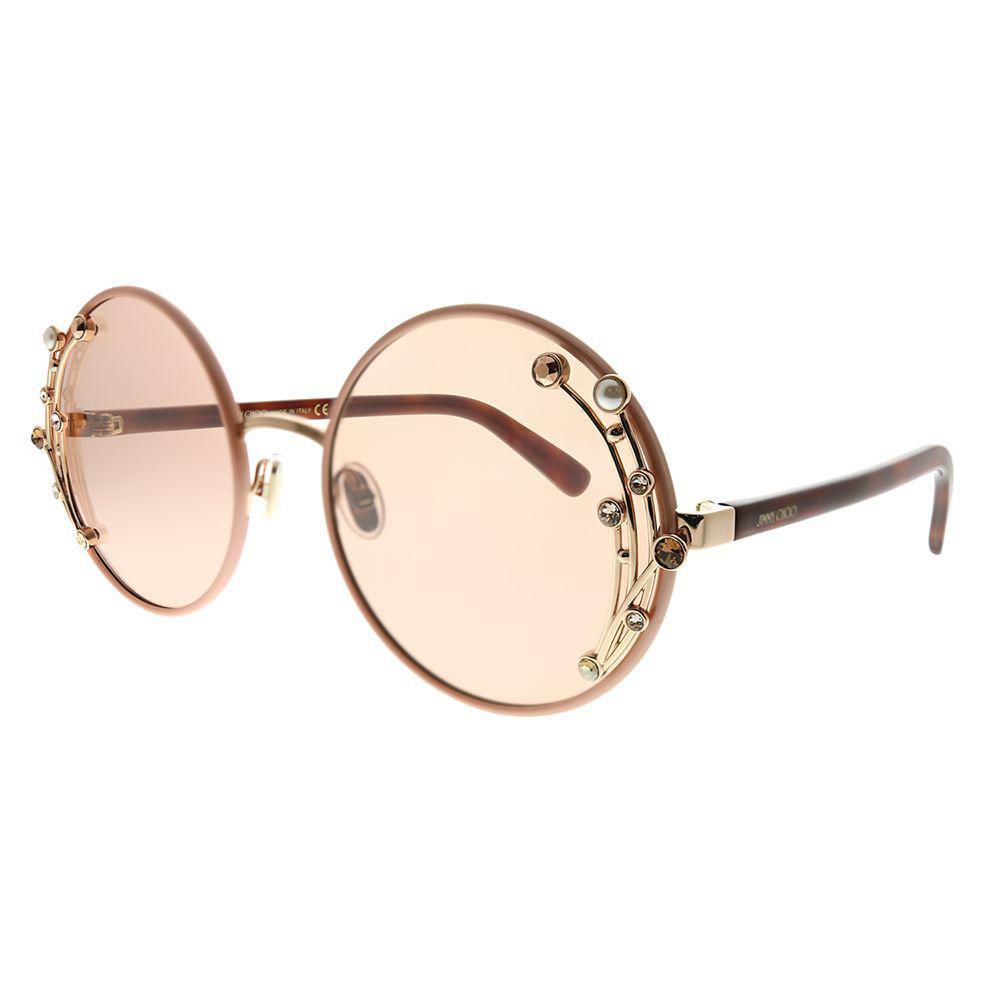8452386cc97 Jimmy Choo. Women s Jc Gema Fwm 2s Nude Round Sunglasses