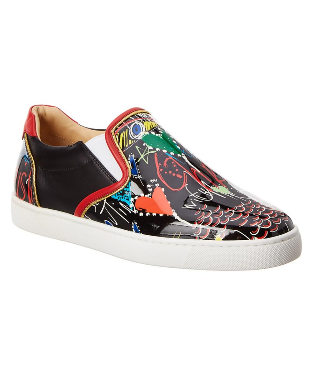 0bae861ad4b Lyst - Christian Louboutin Sailor Boat Leather Sneaker in Black