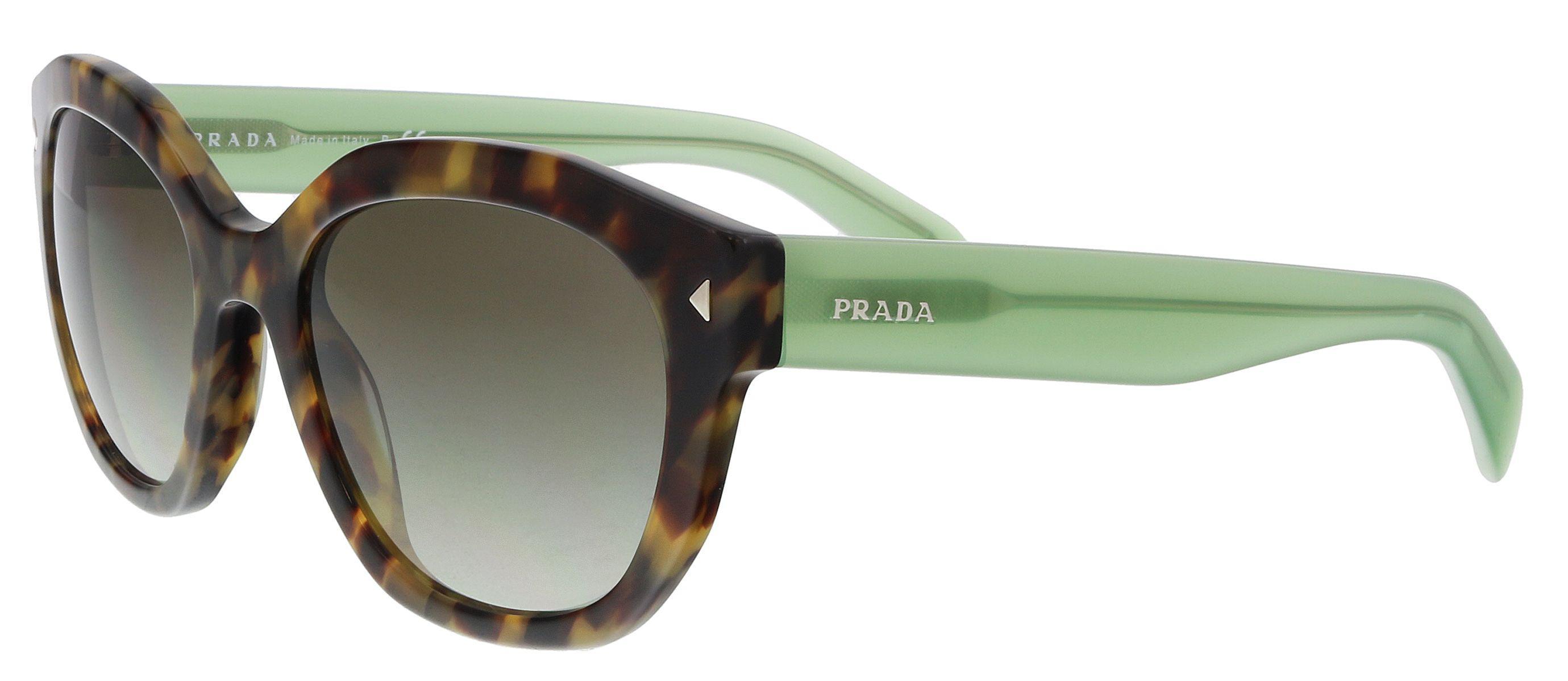 667ade4c3c80 Lyst - Prada Pr12ss Ue04k1 Brown Cat Eye Sunglasses in Green