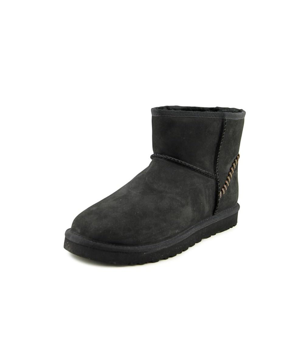 58512f0fe32 Lyst - Ugg M Classic Mini Deco Round Toe Leather Ankle Boot in Black