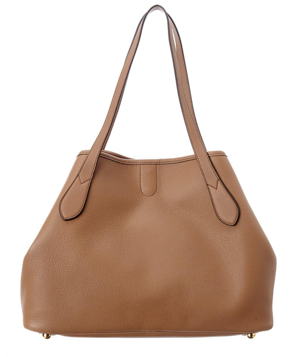 2ad6af6646e0 Lyst - Burberry Medium Grainy Leather Tote in Brown